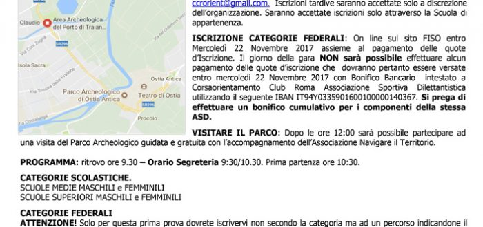 Locandina Fiumicino 26-11-2017